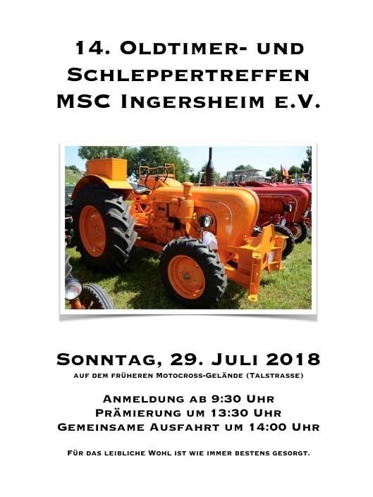 Poster Schleppertreff 2018